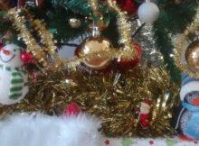 Xmas Preparations Tree Chocolate Santa