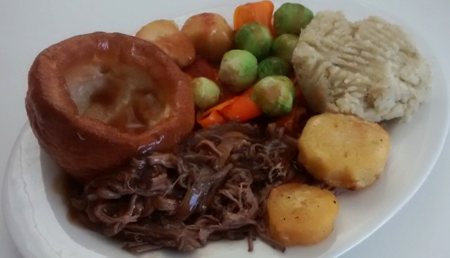 Slow Cooker Pulled Beef Dinner New Years Day Lunch