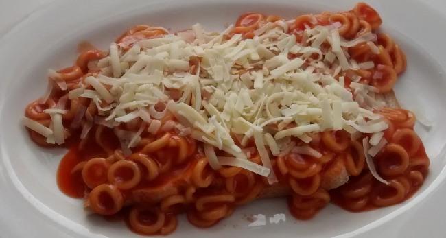 Spaghetti Hoops Toast Cheddar Cheese